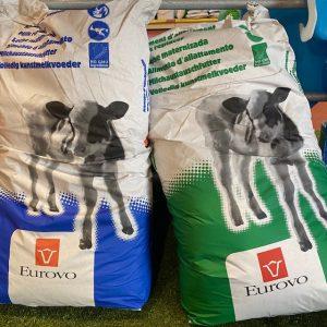 Bags of Lactalis milk replacer