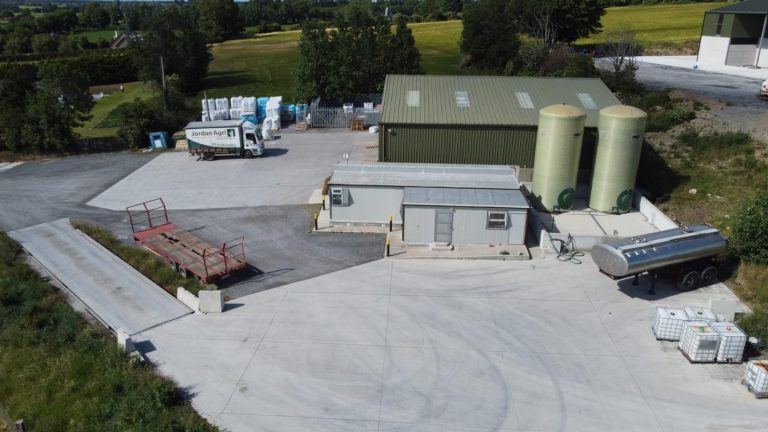 Ariel photo of Jordan Agri premises